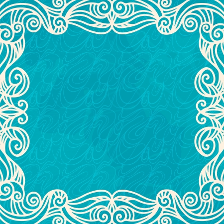 Seamless pattern with frame and space for text  Vector