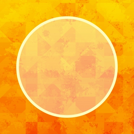 Abstract summer geometric background with frame and space for text  Vector
