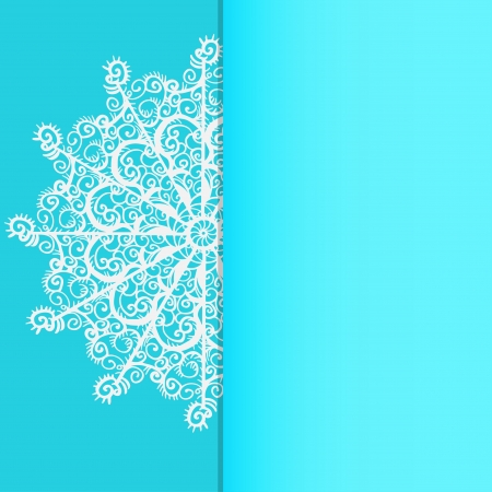 Background with snowflake and space for text Stock Vector - 20600243