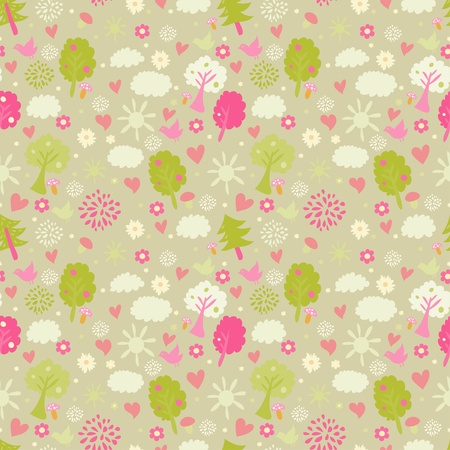 estival: Childrens seamless pattern