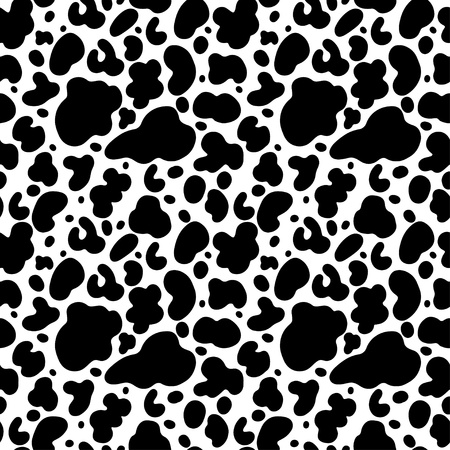 Cow print seamless pattern - vector  Illustration