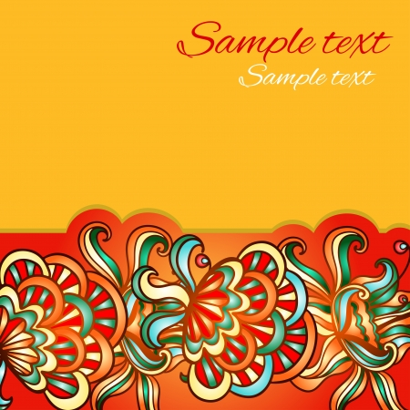 Abstract floral background with space for text Stock Vector - 20600239