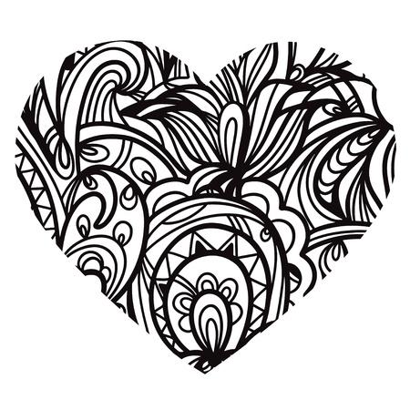Print  pattern heart - vector Vector
