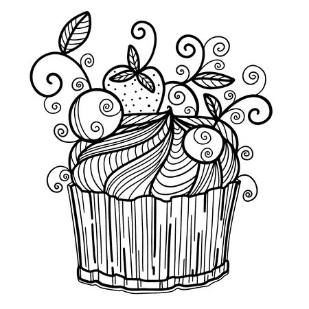 Icon birthday cake isolated - vector  Vector
