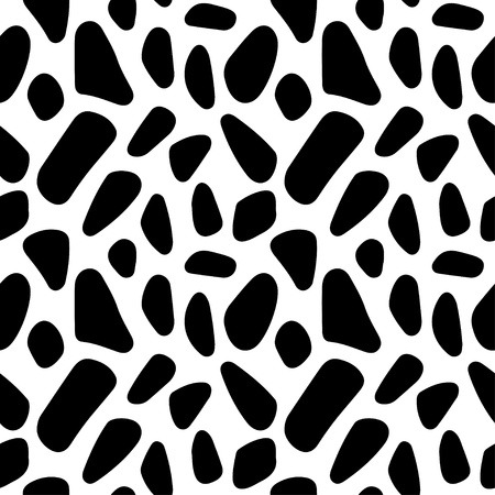Abstract geometric monochrome seamless pattern - vector  Vector