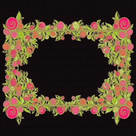 Vintage floral frame - vector Vector