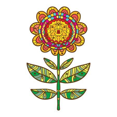 summery: Icon pattern flower isolated - vector Illustration