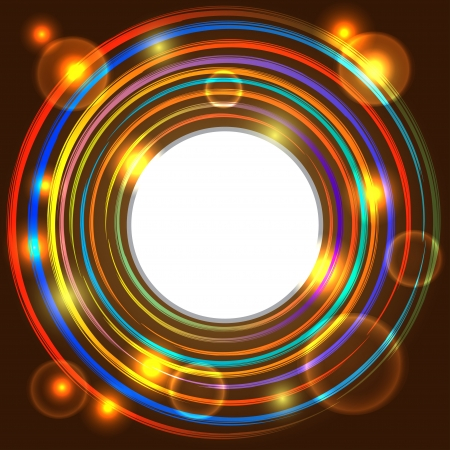 Abstract background with colorful circles and space for text - vector  Vector