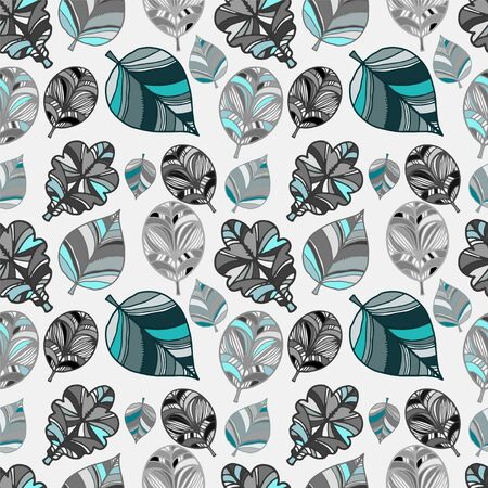 Abstract seamless pattern with leaves - vector Vector