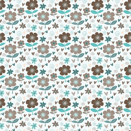 summery: Summery floral seamless pattern