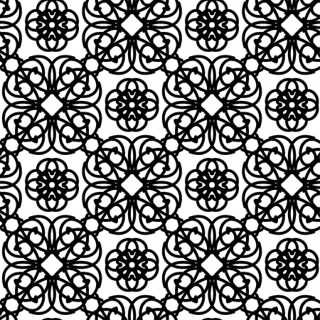Monochrome lacy seamless pattern Stock Vector - 20705248
