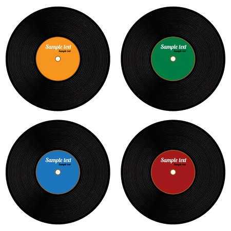 Set of vinyl record isolated  Vector