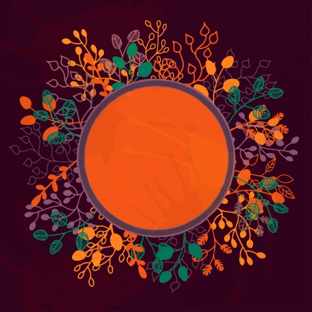 Floral background with frame and a space for text Stock Vector - 20705254