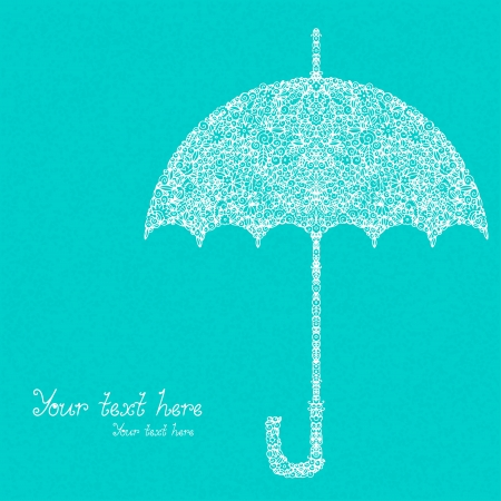 Floral umbrella and space for text  Vector