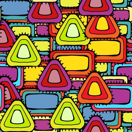 children s art: Colorful abstract geometric seamless pattern  Illustration
