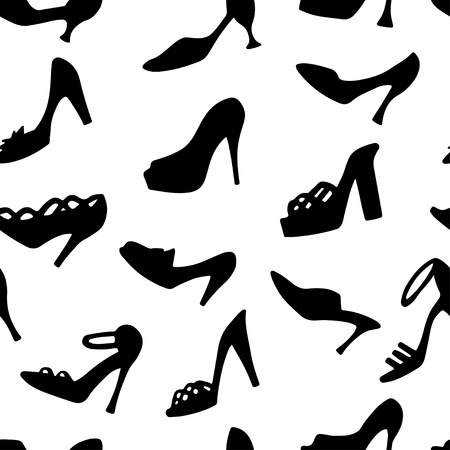 Seamless pattern with shoes  Vector