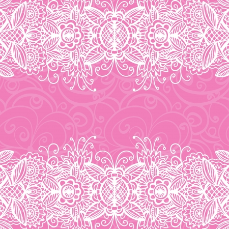 Pink floral pattern background with space for text  Vector