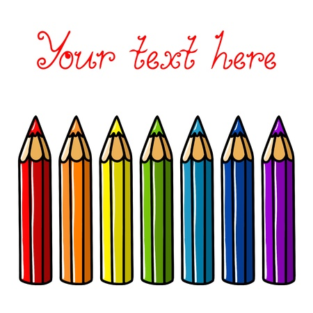 Set of colorful pencil and space for text  Vector