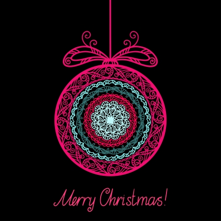 Vintage background with Christmas ball Vector