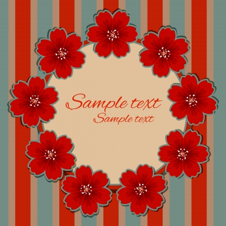 ilhouette: Floral background with frame and space for text