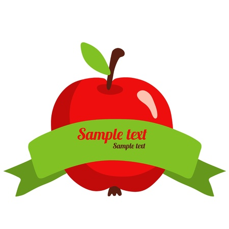 Apple banner with space for text  Vector