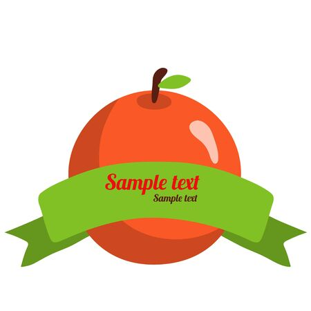 Orange banner with space for text Vector