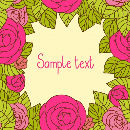 Vintage floral background with space for text  Vector