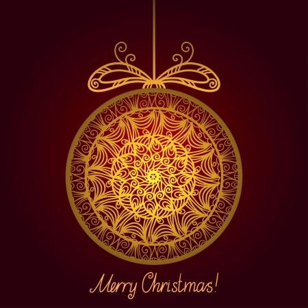 Gold isolated Christmas ball Stock Vector - 20705353