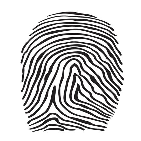 fingermark: Abstract icon fingerprints silhouette isolated  Illustration