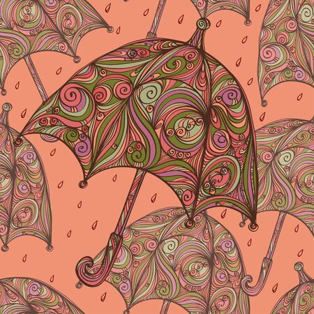 Seamless pattern with umbrellas Stock Vector - 20705370