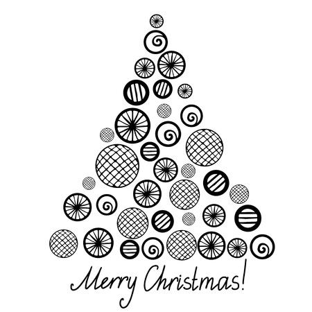 spruce: Aislado silueta del �rbol de Navidad