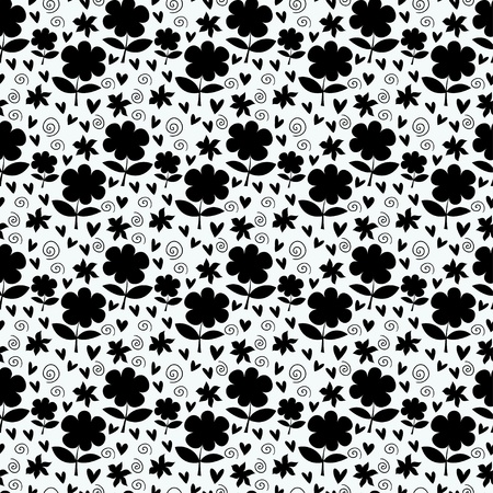 Monochrome floral seamless pattern - vector Stock Vector - 21643441