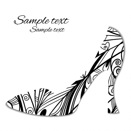 Sign pattern shoes silhouette isolated - vector Stock Vector - 21643430