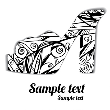 Sign pattern shoes silhouette isolated - vector Vector