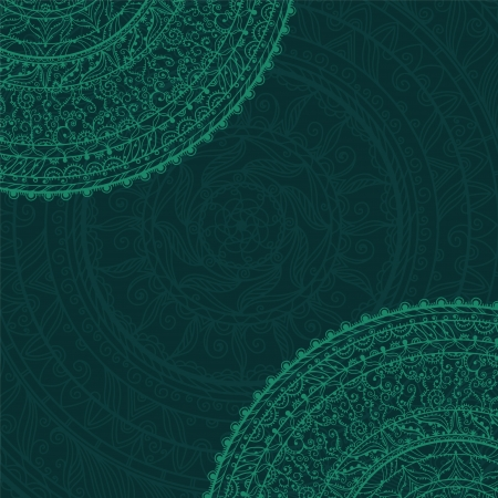 Vintage background with lace ornament - vector Vector