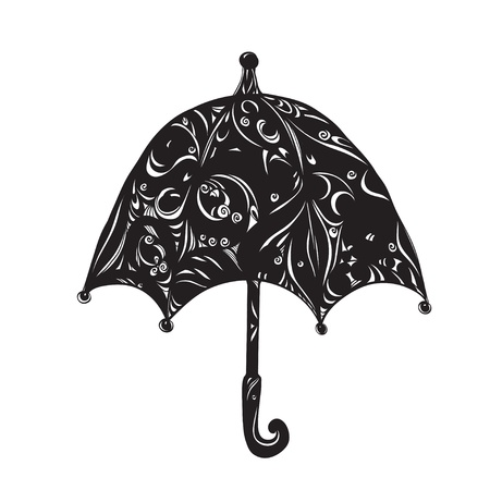 Icon pattern umbrella - vector Vector