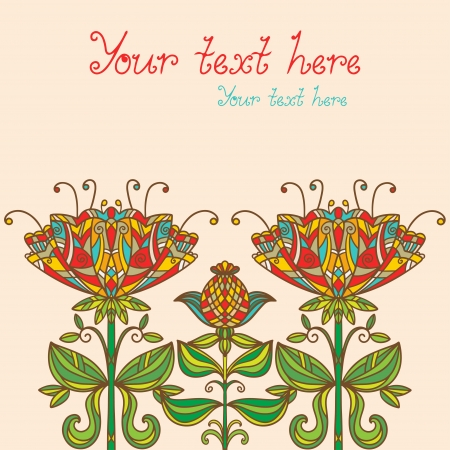 Floral background with space for text - vector Vector