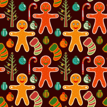 Christmas and New Year seamless pattern  Stock Vector - 21700076