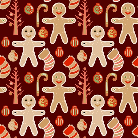 Christmas and New Year seamless pattern  Vector