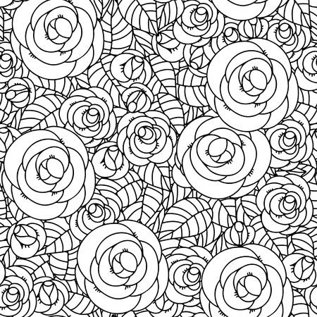 Floral seamless avec des roses Banque d'images - 21699823