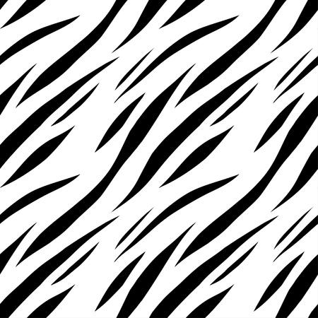 white tiger: Animal abstract print monochrome seamless pattern  Illustration