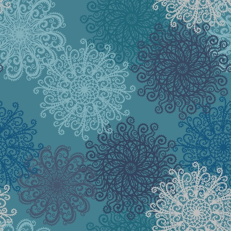 Holiday seamless pattern with snowflakes - vector Vector