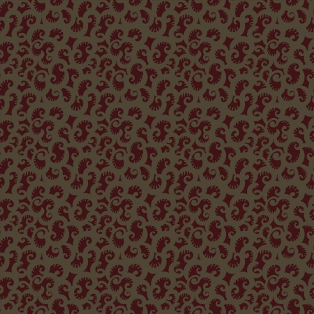 Dark abstract floral seamless pattern - vector Vector