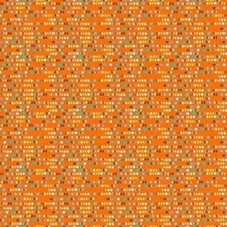 Orange abstract geometric seamless pattern - vector Vector
