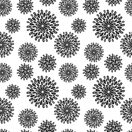 flower line: Abstract floral seamless pattern - vector