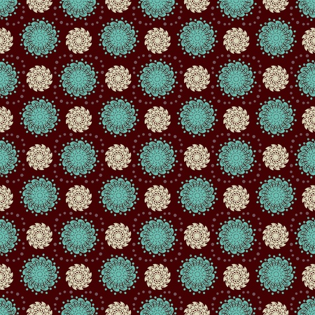 Abstract floral seamless pattern - vector Vector