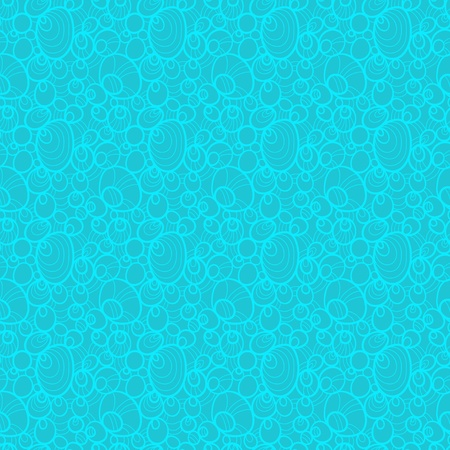Blue abstract seamless pattern - vector Vector