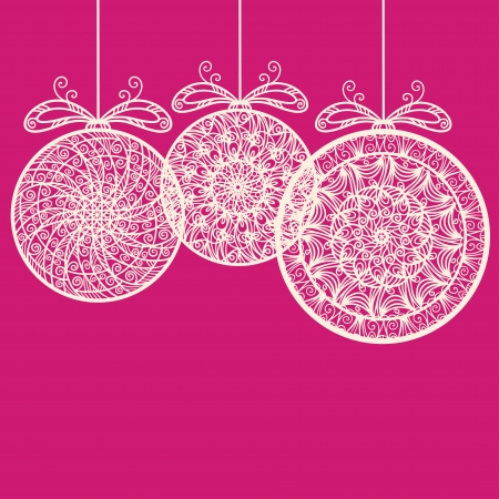 Vintage holiday New Year and Christmas background with Christmas balls - vector Stock Vector - 22199283