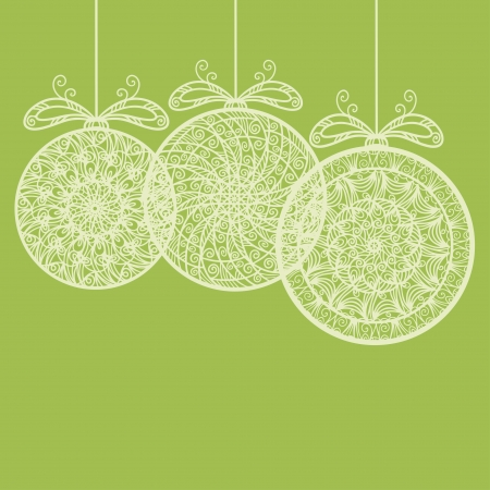 Vintage holiday New Year and Christmas background with Christmas balls - vector Vector