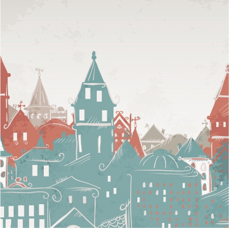 Panorama de la ville - vecteur Vecteurs